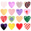 Hearts vector collection — Stock Vector
