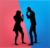 Couple argue fight — Stock Vector