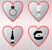 Hearts vector collection. Valentine's day — Stock Vector