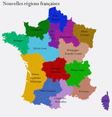 New French regions — Stock Vector