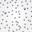 Cat Paw Prints vector seamless background — Stock Vector