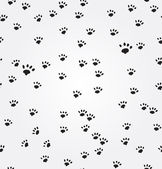 Cat Paw Prints vector seamless background — Vector de stock