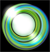Abstract vector background with green circles — 图库矢量图片