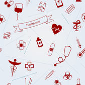 Medical icons seamless vector background — Stok Vektör