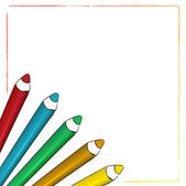 Coloured pencils — Stock Vector