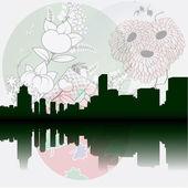 Tokyo City Skyline — Stock Vector