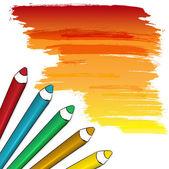 Kolorowe ołówki — Wektor stockowy
