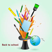Back to school vector illustration — Stock Vector