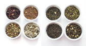 Herbal tea collection. Isolated on white — Stock Photo