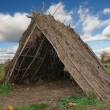 Straw tent - Stock Photo