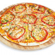 Pizza  isolated on white background. — Stock Photo