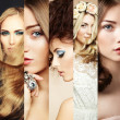 Beauty collage. Faces of women — Stock Photo #44362833