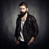Portrait of handsome man with beard — Photo