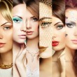 Beauty collage. Faces of women — Stock Photo #47122383