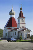 Kandalaksha. North of Russia. The Church of St John the Baptist — Foto de Stock