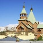 Постер, плакат: Holy Trinity Church Russia City Of Polyarnye Zori