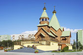 Holy Trinity Church. Russia. City Of Polyarnye Zori — Stock Photo