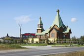 Temple in the city of Polyarnye Zori. The Murmansk region. Russi — 图库照片