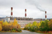 Thermal power station in northern Russia — Stock Photo