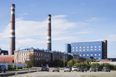 Kandalaksha aluminium plant. North Of Russia — Stock Photo