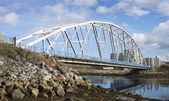 Iron Bridge. North of Russia — Stock Photo