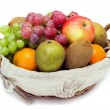A small set of fruit in a basket — Stock Photo #22026137