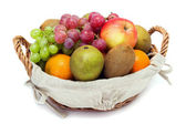 A small set of fruit in a basket — Stock Photo
