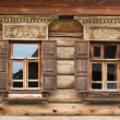 Two Windows of the old house in Russia — Stock Photo #26254785