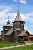在苏兹达尔博物馆,俄罗斯木制教堂 — 图库照片