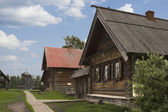 Street Russian village of the nineteenth century — Stock Photo
