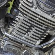 Detail of the motorcycle engine — Stock Photo