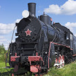 Stock Photo: Russisteam locomotive 30 years last century
