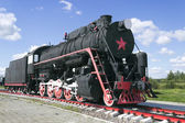 Russian freight locomotive 50-ies — Stock Photo