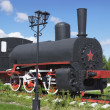 图库照片: Russiindustrial locomotive beginning of 1900s