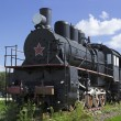 Soviet steam locomotive 30s — Stock Photo
