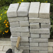 Paving stones in a pile — Stock Photo