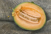 Half a small butternut squash melon — Stock Photo