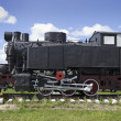 Stock Photo: Old Soviet shunting locomotive