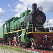 Stock Photo: Old passenger Soviet locomotive