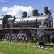 Steam locomotive built in Germany of the Russian project — Stock Photo
