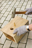Manufacture of manually birdhouse — Stock Photo