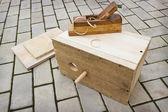 To make a birdhouse manually — Stock Photo