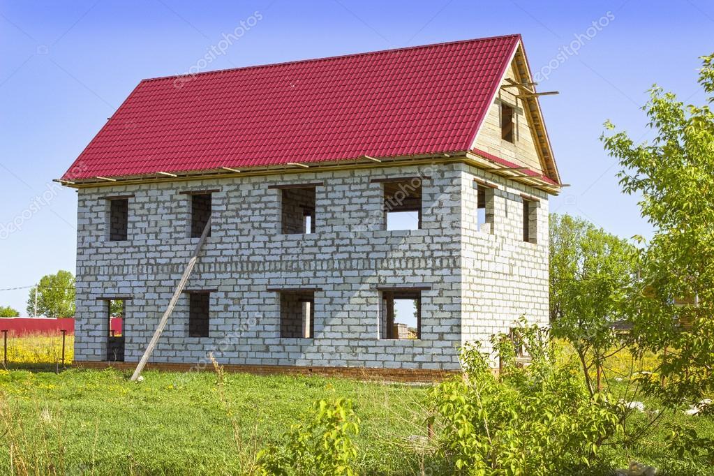 Вернуться: Проекты домов из пенобетонных блоков. дом из пеноблоков