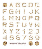Letters of biscuits — Stock Photo