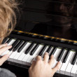Piano playing — Stock Photo #13155987
