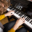 Piano playing — Stock Photo #13155996
