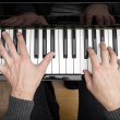 Piano playing — Foto Stock