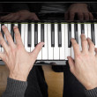 Stock Photo: Piano playing