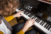 Piano playing — Stock Photo