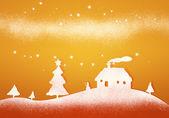 Orange christmas background — Stock Photo